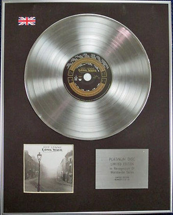 JEFF LYNNE(from ELO) - Limited Edition CD Platinum Disc - LONG WAVE