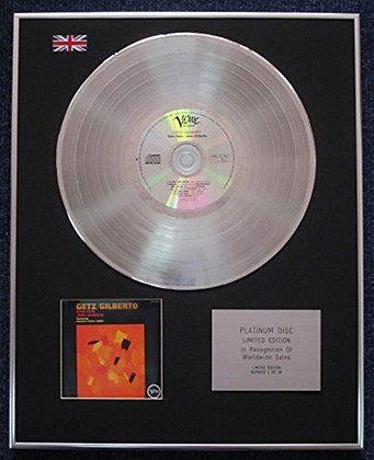 Jo?o Gilberto - Limited Edition CD Platinum LP Disc - Getz/Gilberto