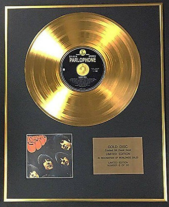 The Beatles - Exclusive Limited Edition 24 Carat Gold Disc - Rubber Soul