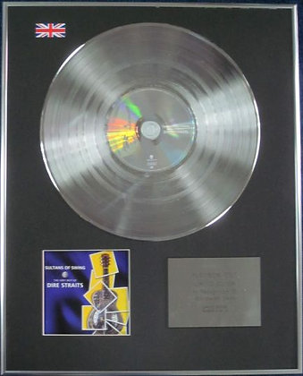 DIRE STRAITS - Limited Edition CD Platinum Disc - SULTANS OF SWING