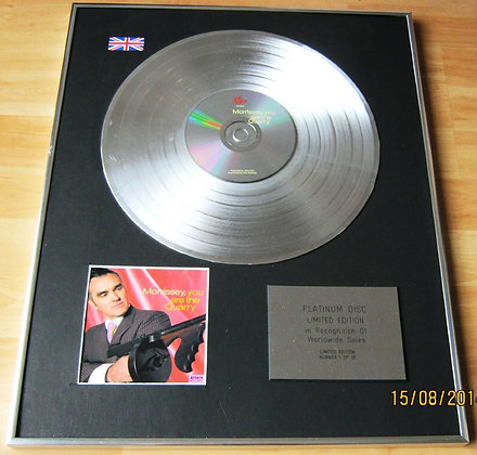 MORRISSEY ( of the SMITHS) CD Platinum Disc- YOU ARE THE QUARRY
