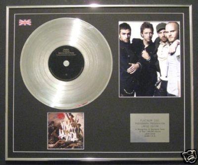 COLDPLAY - Ltd Edt CD Platinum Disc +Photo VIVA LA VIDA