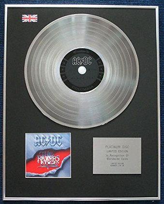AC/DC - Limited Edition CD Platinum LP Disc - Razor Edge