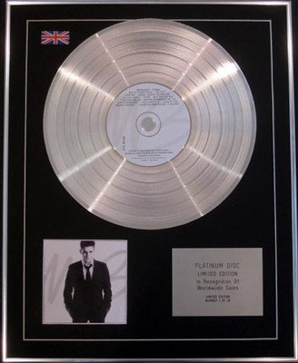 MICHAEL BUBLE -  Limited Edition CD Platinum Disc - IT'S TIME