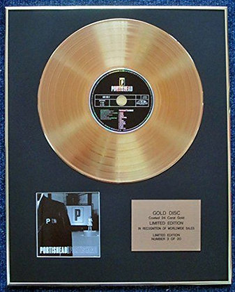 Portishead - Limited Edition CD 24 Carat Gold Coated LP Disc - 'Portishead'