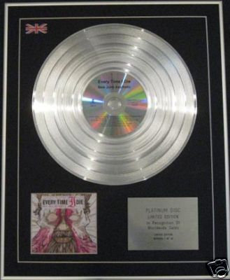 EVERY TIME I DIE -CD Platinum Disc - NEW JUNK AESTHETIC