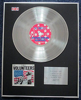 Jefferson Airplane - Limited Edition CD Platinum LP Disc - Volunteers