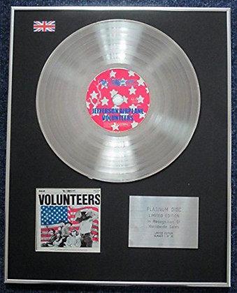 Jefferson Airplane - Limited Edition CD Platinum LP Disc - Volunteers
