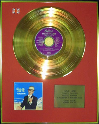 FRANK SINATRA - Ltd Edition CD 24 Carat Coated Gold Disc - COME FLY WITH ME