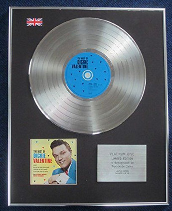 Dickie Valentine - Limited Edition CD Platinum LP Disc - The Best Of
