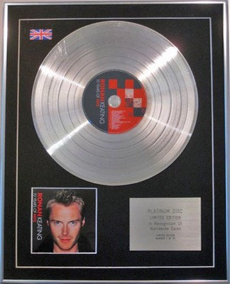 Ronan Keating  - Limited Edition Cd  Platinum Disc  - 10 Years Of Hits