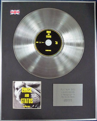 CHASE AND STATUS - Limited Edition CD Platinum Disc - NO MORE IDOLS