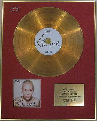 JESSIE J - Limited Edition CD  24 Carat Gold Disc - ALIVE