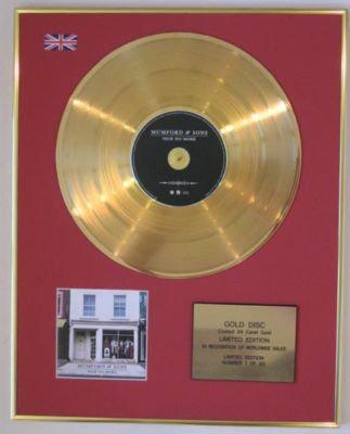 MUMFORD & SONS - Ltd Edtn CD Gold Disc- SIGH NO MORE