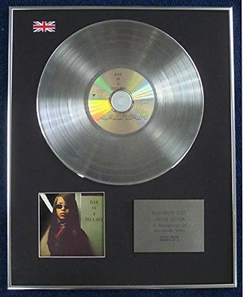 AALIYAH - Limited Edition CD Platinum LP Disc - ONE IN A MILLION