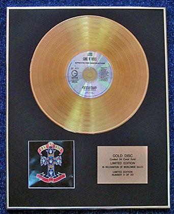 Guns N' Roses - LTD Edition CD 24 Carat Gold Coated LP Disc - Appetite…