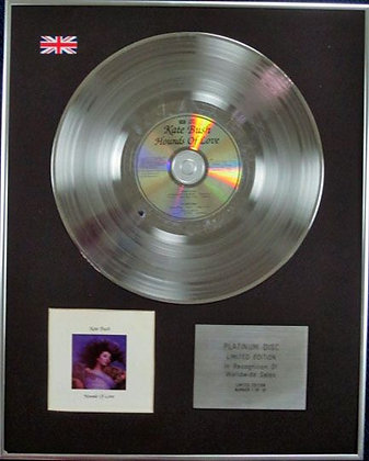 KATE BUSH - Limited Edition CD Platinum Disc - HOUNDS OF LOVE