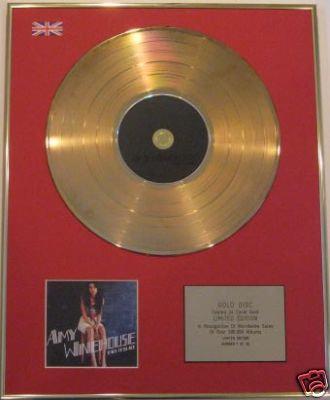 AMY WINEHOUSE - Ltd Edt CD Gold Disc - BACK TO BACK