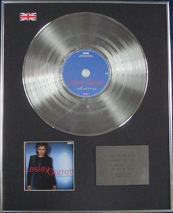 LESLEY GARRET - Limited Edition CD Platinum Disc - I WILL WAIT FOR YOU