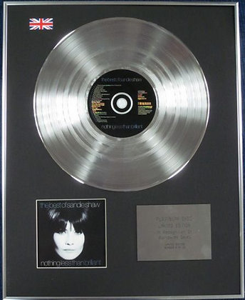 SANDIE SHAW- Limited Edition CD Platinum Disc - THE BEST OF