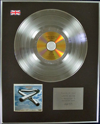 MIKE OLDFIELD - Limited Edition CD Platinum Disc - TUBULAR BELLS (25th)