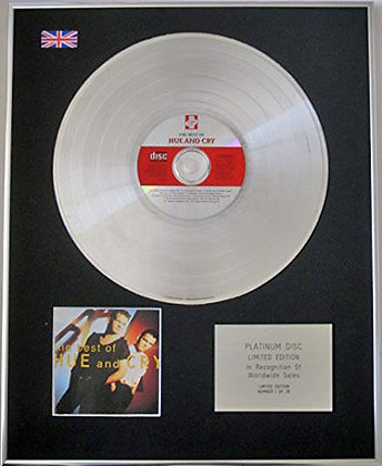 HUE AND CRY - CD Platinum Disc - THE BEST OF