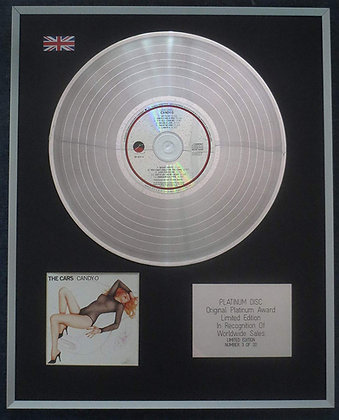 The Cars - Limited Edition CD Platinum LP Disc - Candy-O
