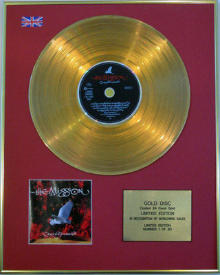 THE MISSION - Limited Edition 24 Carat CD Gold Disc - CARVEDINSAND