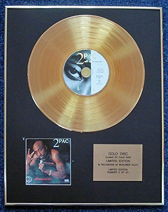 2Pac - Limited Edition CD 24 Carat Gold Coated LP Disc - All Eyez on Me