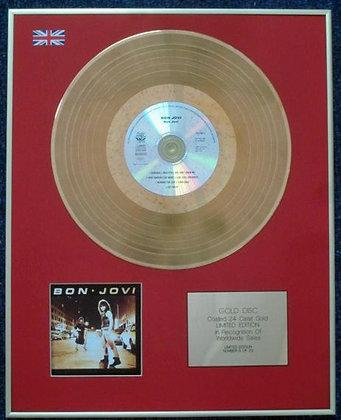 BON JOVI - Limited Edition CD 24 Carat Gold Coated LP Disc - 'BON JOVI 2'