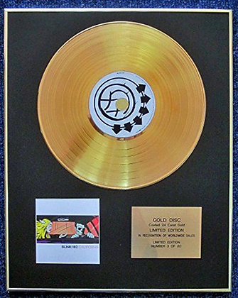 Blink-182 - Limited Edition CD 24 Carat Gold Coated LP Disc - California
