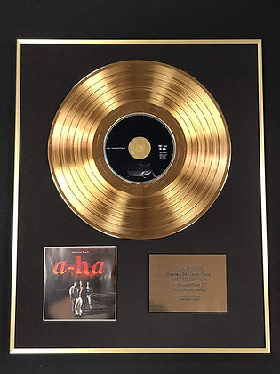 A-ha - Exclusive Limited Edition 24 Carat Gold Disc - Memorial Beach