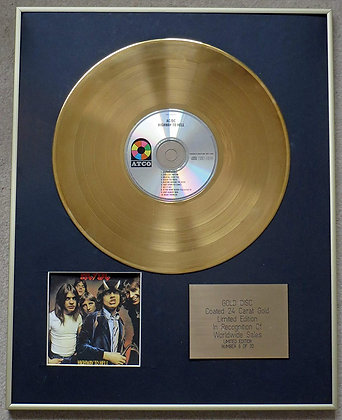 ACDC - Exclusive Limited Edition 24 Carat Gold Disc - HIGHWAY TO HELL