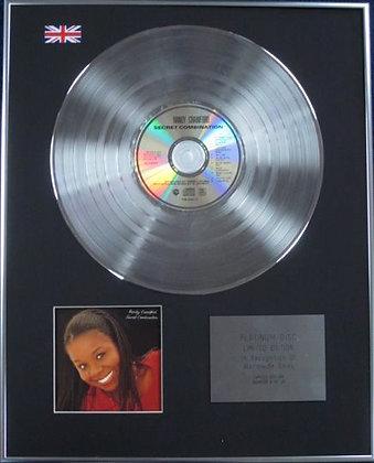 RANDY CRAWFORD - Limited Edition CD Platinum Disc - SECRET COMBINATION