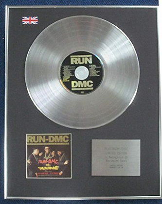 Run DMC - Limited Edition CD Platinum LP Disc - Greatest Hits 1983