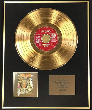 Aerosmith - Exclusive Limited Edition 24 Carat Gold Disc - Toys In The Attic