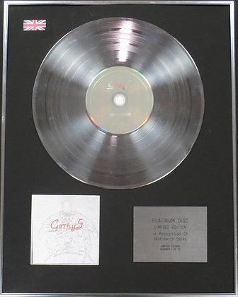 GORKY'S ZYGOTIC MYNCI - Limited Edition CD Platinum Disc - GORKY 50