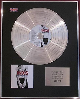INXS - CD Platinum Disc - THE GREATEST HITS