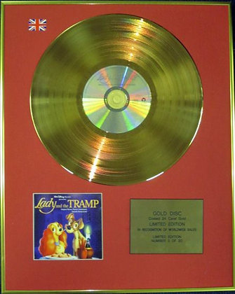 LADY AND THE TRAMP - Ltd Edition CD 24 Carat Coated Gold Disc - Soundtrack