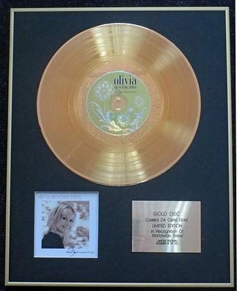Olivia Newton John - Exclusive 24 Carat Gold Disc - Indigo: Women of Song
