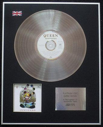 Queen - Limited Edition CD Platinum LP Disc - Inuendo
