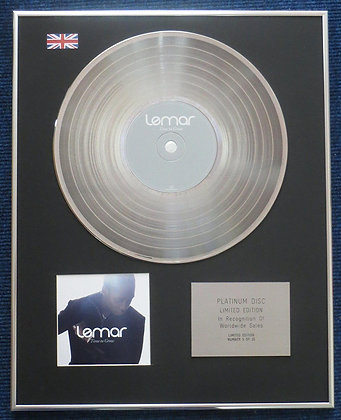 Lemar- Limited Edition CD Platinum LP Disc - Time to grow