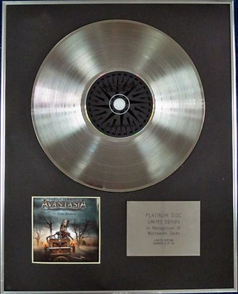 AVANTASIA - Limited Edition CD Platinum Disc -THE WICKED SYMPHONY