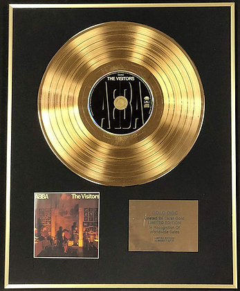 Abba - Exclusive Limited Edition 24 Carat Gold Disc - The Visitors