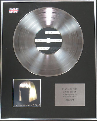 SIA - Limited Edition CD Platinum Disc - 1000 FORMS OF FEAR