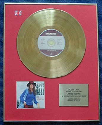 Carly Simon - Limited Edition CD 24 Carat Gold Coated LP Disc - No Secrets