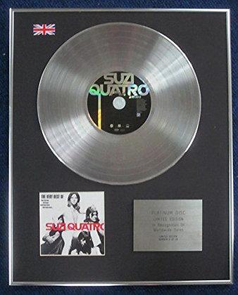 Suzi Quatro - Limited Edition CD Platinum LP Disc -The Very Best of