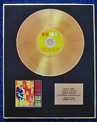 Guns N' Roses - Limited Edition CD 24 Carat Gold Coated LP Disc -Illusion 1