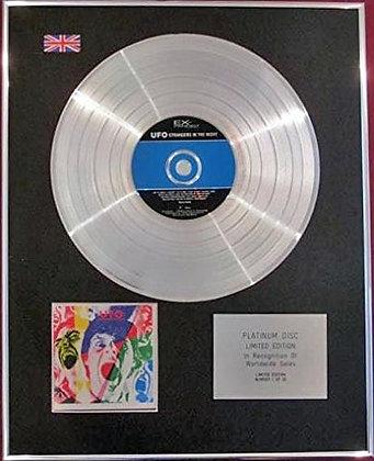 UFO - CD Platinum Disc- STRANGERS IN THE NIGHT