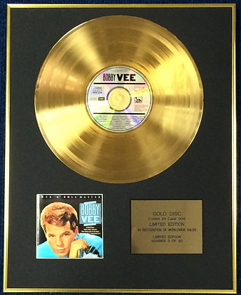 Bobby Vee - Exclusive Limited Edition 24 Carat Gold Disc - The Best Of